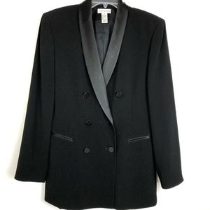 Ann Taylor Tuxedo Blazer, black double breasted.